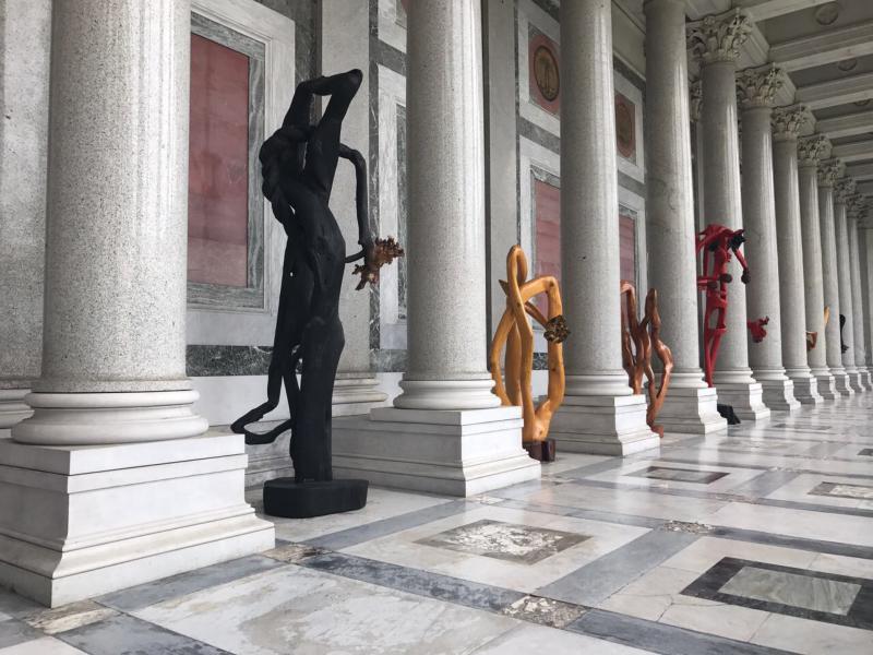 Bia Doria expõe obras em Roma