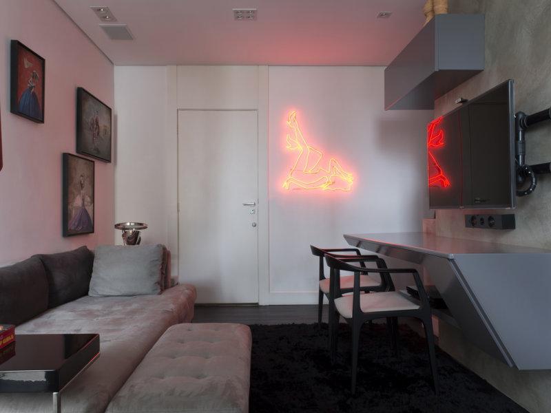 Arquiteto transforma apartamento de 27m² em loft moderno
